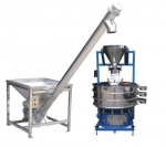 screw conveyer and sieve